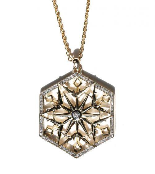 Snow Queen Gold Diamond Necklace
