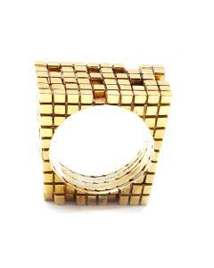 Metatron Square 4 Part Gold Ring