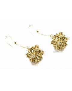 Frame Diamond Gold Dangle Earring
