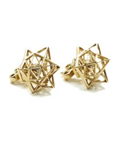 Framework Diamond Gold Stud Earring