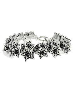 Helix Frame Silver Bracelet