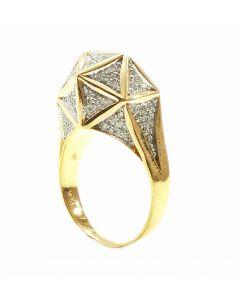 Icoso Mini Diamond Gold Ring