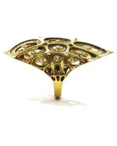 Morpho White Diamond Gold Ring