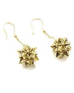 Nova Diamond Gold Dangle Earrings