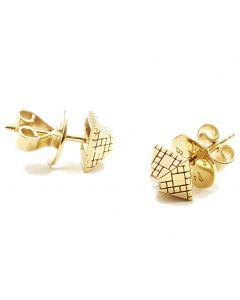 Singular Stud White Diamond Gold Earring