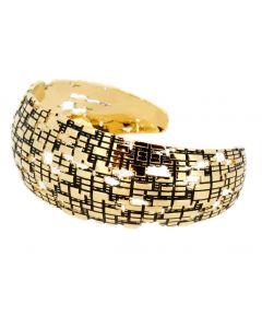 Torus Thin Gold Cuff