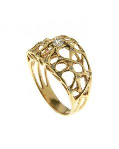 Web Diamond Gold Ring