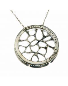 Web Silver Necklace