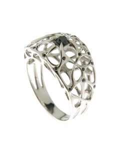 Web Silver Ring