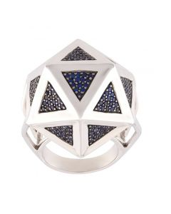 Icoso Blue Sapphire Silver Ring