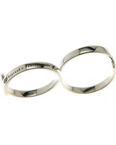 Fabri Infinity Single Loop Adjustable Silver Ring