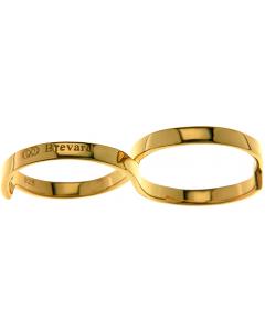 Fabri Infinity Single Loop Gold Ring