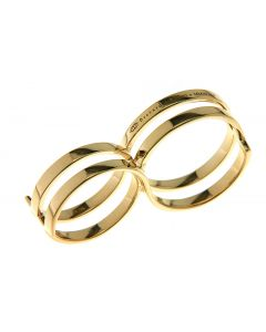 Fabri Infinity Double Loop Adjustable Gold Ring