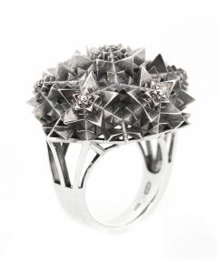 Silver Thoscene Ring