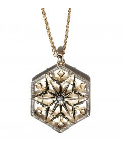 Snow Queen Gold Diamond Necklace