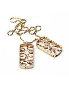 Web Gold Dog Tags