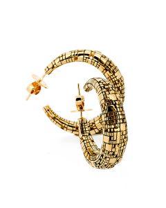 Torus Swoop Gold Earrings