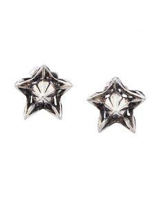 Nova Wrap Silver Stud Earrings