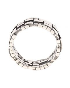 Ortho Small Blockchain Silver Ring