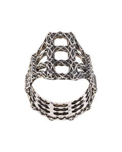 Singularity Molecule Long Silver Ring
