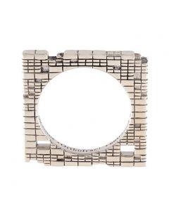 Torus Square Silver Stack Ring