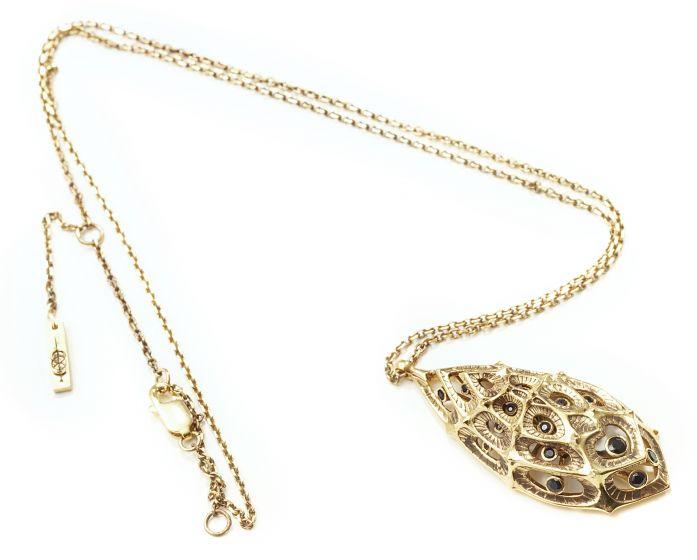 Morpho Diamond Necklace