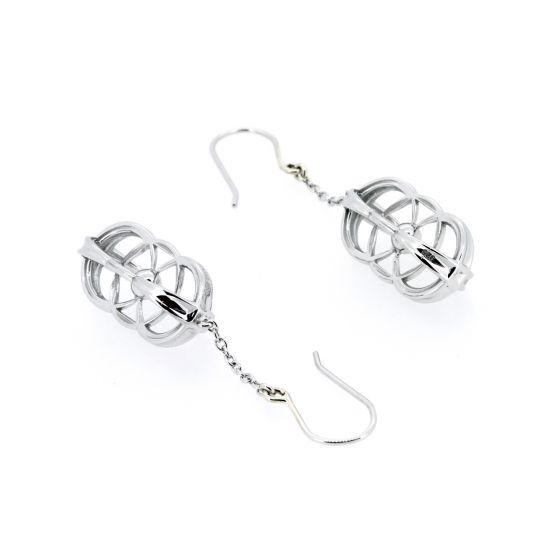 Logo Silver Earrings