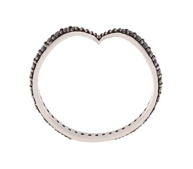 Fabri Single Stackable Diamond Gold Ring