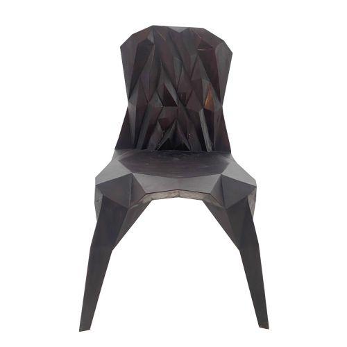 Hand-Sculpted Crystalline Chair