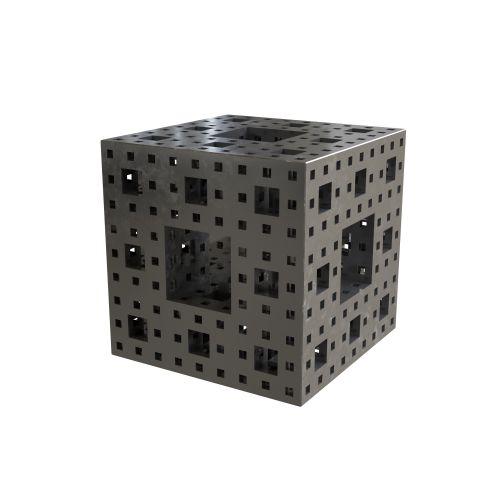 MENGER Cube sculptural end table