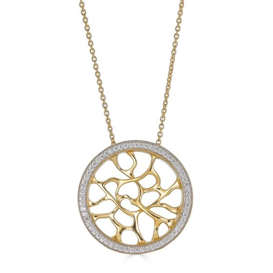 Web Gold Necklace