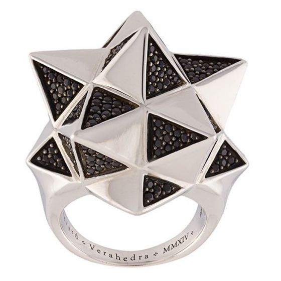 Tetra Partial Pave Sapphire Ring