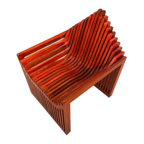 Red Teak Fabri Chair