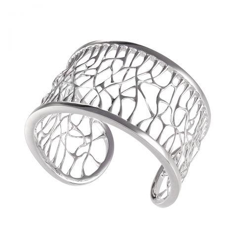 Web Silver Cuff
